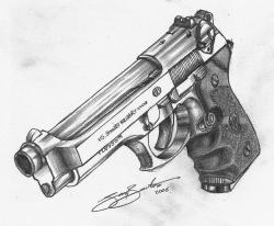 Drawn shotgun pencil