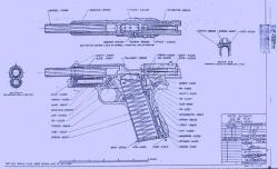 Drawn pistol blueprint