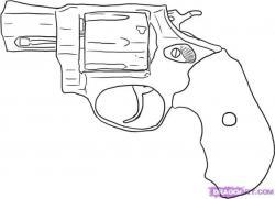 Drawn shotgun graffiti