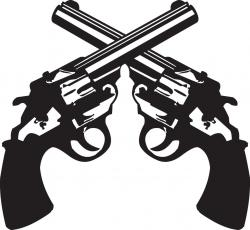 Pistol clipart crossed