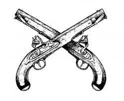 Flint Lock clipart crossed gun
