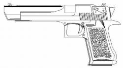 Drawn pistol desert eagle