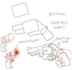 Drawn weapon too human