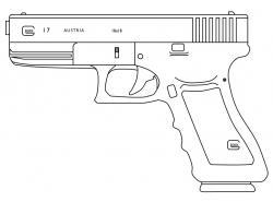 Drawn pistol glock 18