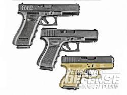 Drawn pistol glock 19
