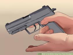 Drawn pistol gun shooting