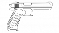 Drawn pistol rifle