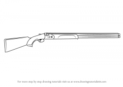 Drawn shotgun shooting gun
