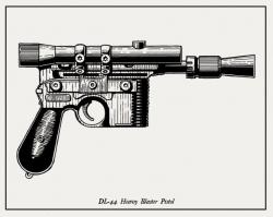 Drawn pistol war gun