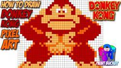 Drawn pixel art arcade