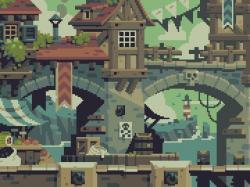 Drawn pixel art detailed