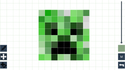 Drawn pixel art easy