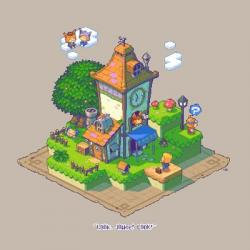 Drawn pixel art game art
