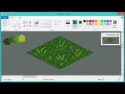 Drawn pixel art grass