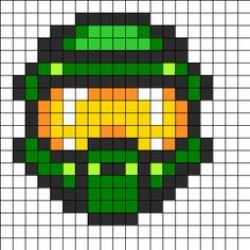 Drawn pixel art halo 4