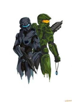 Drawn pixel art halo 5