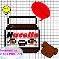 Drawn pixel art nutella
