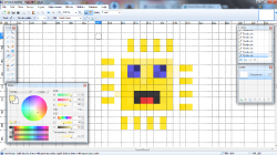 Drawn pixel art paint net