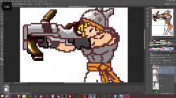 Drawn weapon pixel art