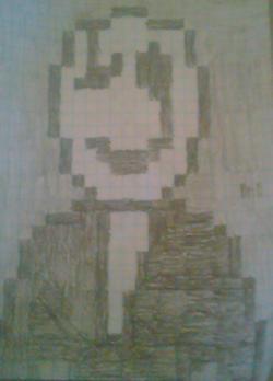 Drawn pixel art phone
