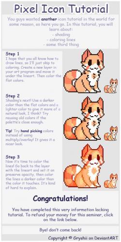 Drawn pixel art pixel icon