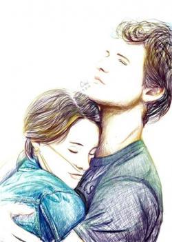 Drawn cute romantic
