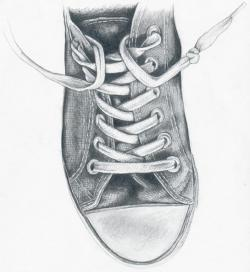 Drawn sneakers artistic