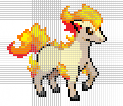 Drawn pixel art template hard pokemon