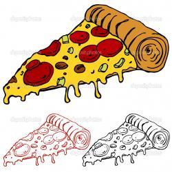 Drawn pizza pizza slice