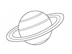 Drawn planets saturn