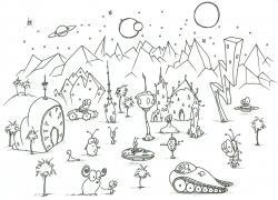 Drawn planet