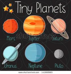 Drawn planets cartoon