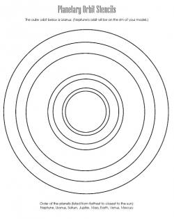Drawn planets circle line