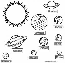 Drawn planets color