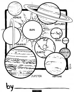 Drawn planets printable