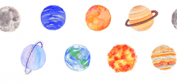 Drawn planets transparent