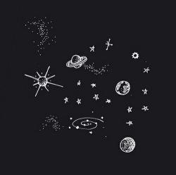 Drawn planets universe