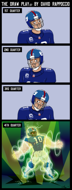 Drawn playing eli manning