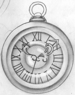 Drawn clock