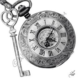 Drawn watch pocket watch
