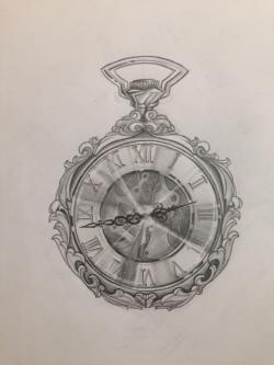 Drawn watch illustration