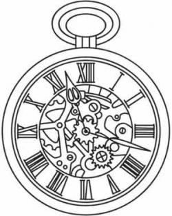 Gears clipart steampunk pocket watch