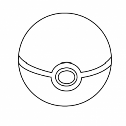 Drawn pokeball
