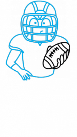 Drawn pokeball american football