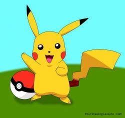 Drawn pikachu pokemon