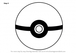 Drawn pokeball cartoon