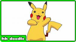 Drawn pikachu cartoon character