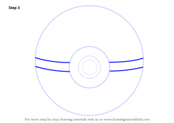 Drawn pokeball drawing