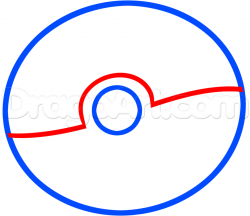 Drawn pokeball line drawing