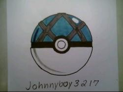 Drawn pokeball netball